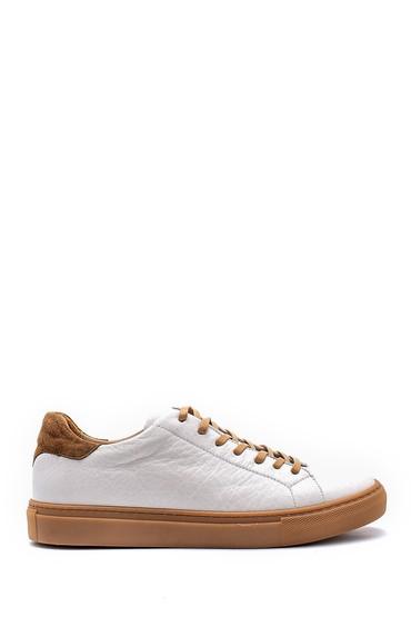 Beyaz Erkek Deri Sneaker 5638144177