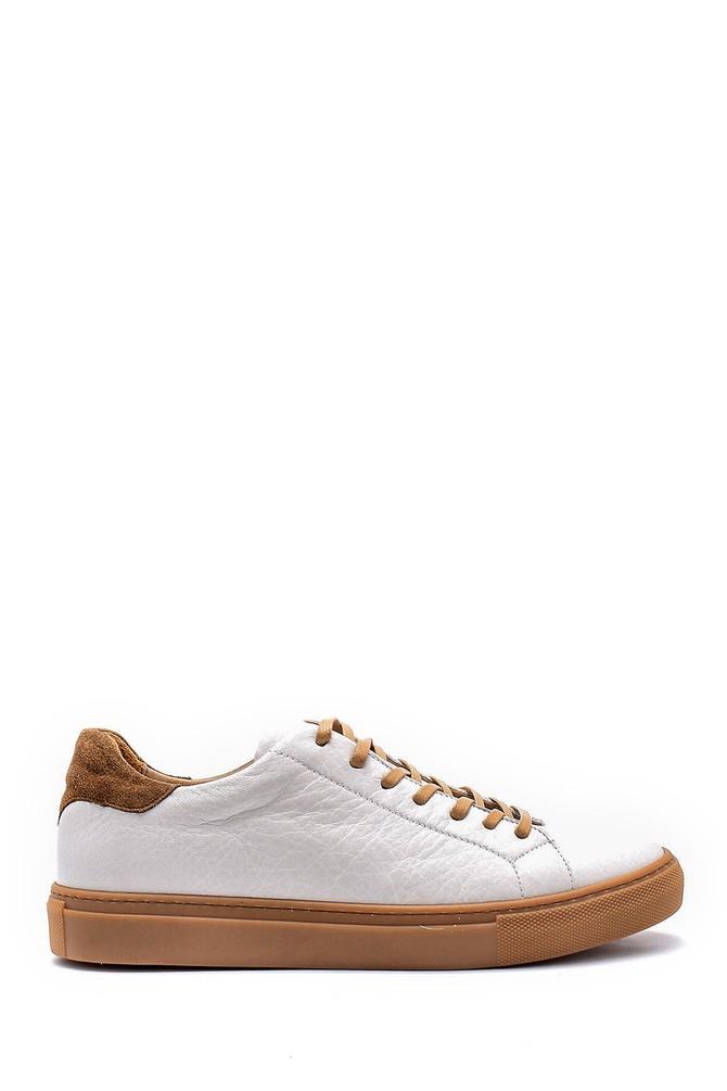 Beyaz Erkek Deri Sneaker 5638144187