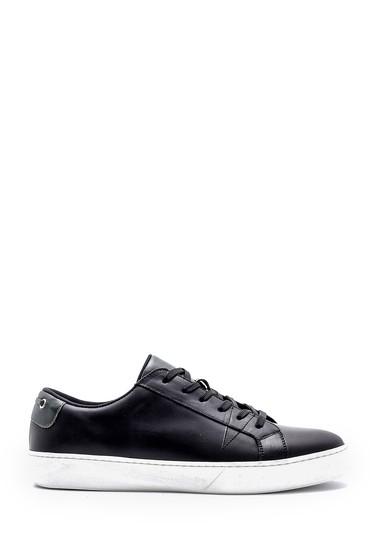Siyah Erkek Deri Sneaker 5638145147