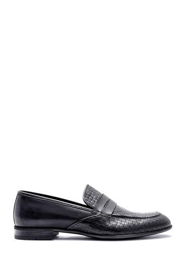 Siyah Erkek Deri Klasik Loafer 5638146136
