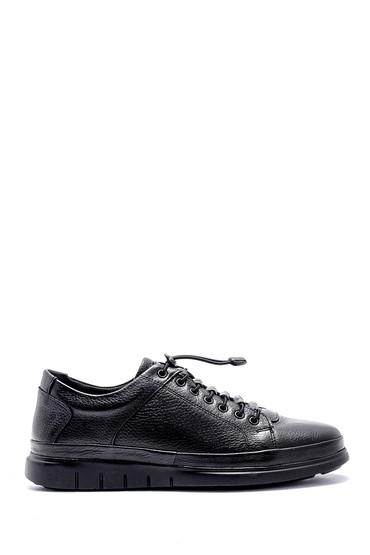 Siyah Erkek Deri Sneaker 5638146874