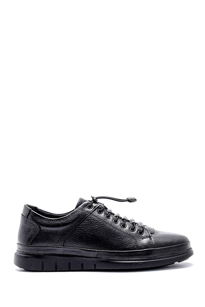 Siyah Erkek Deri Sneaker 5638146882