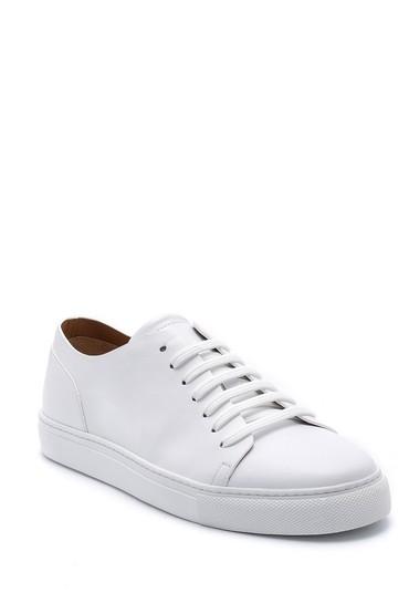 Beyaz Erkek Deri Sneaker 5638159135