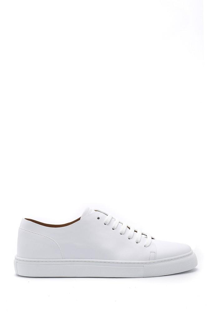 Beyaz Erkek Deri Sneaker 5638159139