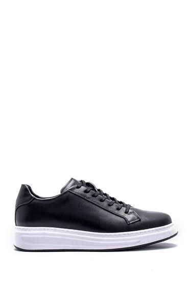 Siyah Erkek Deri Sneaker 5638143823