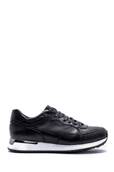 Siyah Erkek Deri Sneaker 5638144247