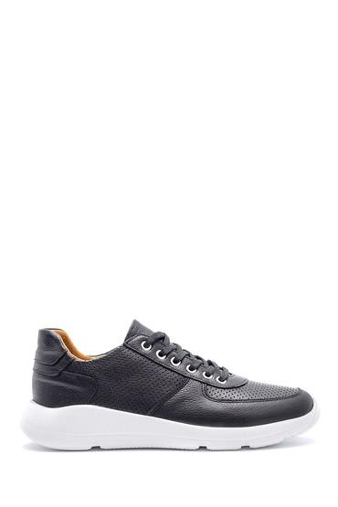 Siyah Erkek Deri Sneaker 5638148359