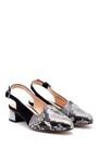 5638161179 Kadın Yılan Derisi Detaylı Ayakkabı