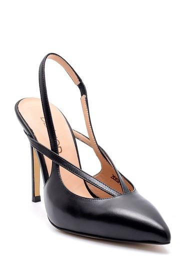 Siyah Kadın Deri Stiletto 5638161353