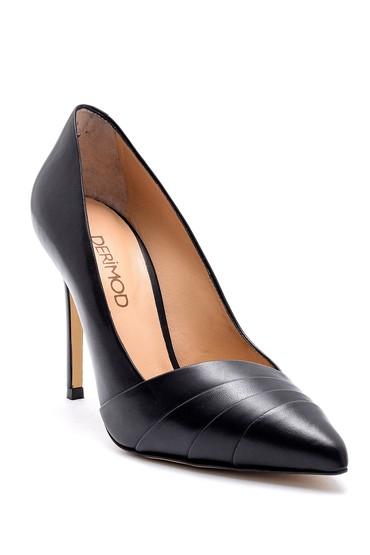 Siyah Kadın Deri Stiletto 5638161474