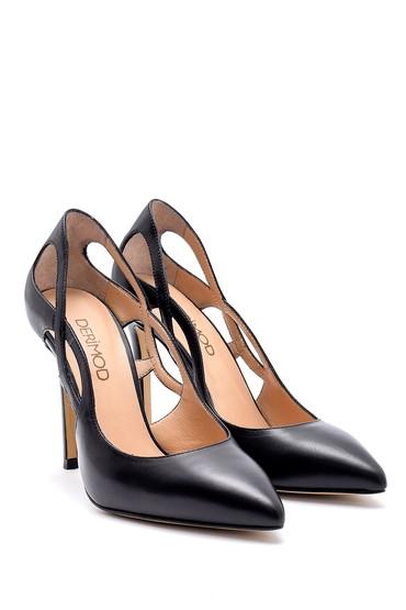 Siyah Kadın Deri Stiletto 5638161485