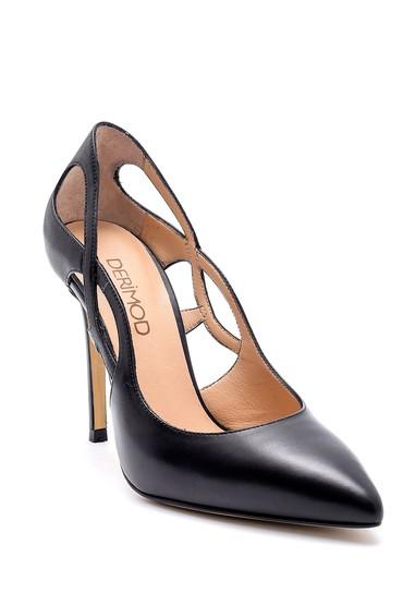 Siyah Kadın Deri Stiletto 5638161489