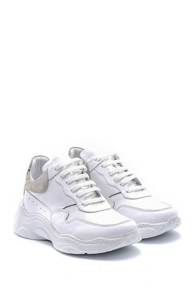 5638167631 Kadın Deri Yüksek Tabanlı Sneaker