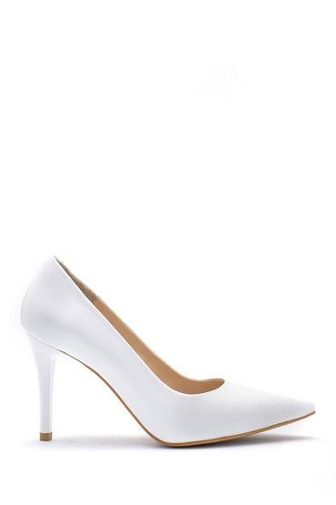 Beyaz Kadın Deri Stiletto 5638163360