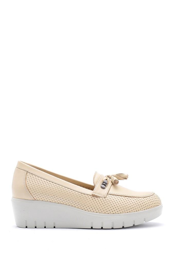 Bej Kadın Dolgu Topuklu Ayakkabı 5638152107