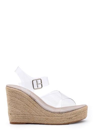 Şeffaf Kadın Şeffaf Dolgu Topuklu Sandalet 5638153307