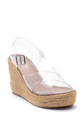 Kadın Şeffaf Dolgu Topuklu Sandalet