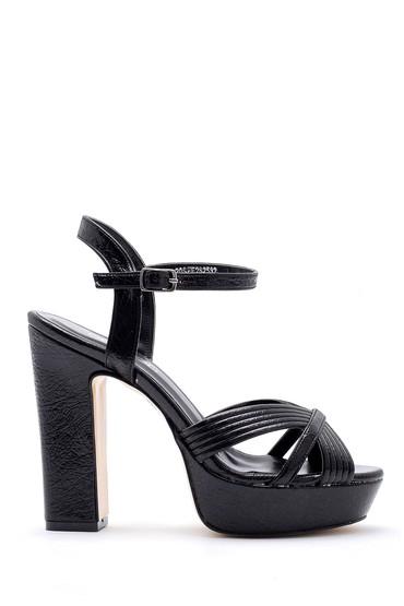 Siyah Kadın Topuklu Ayakkabı 5638155606