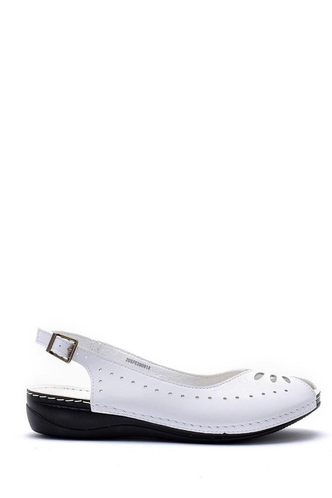 Beyaz Kadın Sandalet 5638159948
