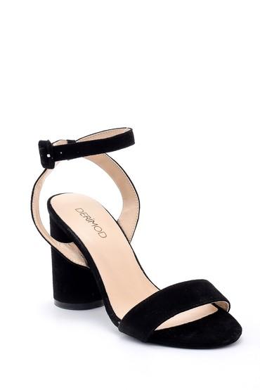 Siyah Kadın Kalın Topuklu Ayakkabı 5638162387