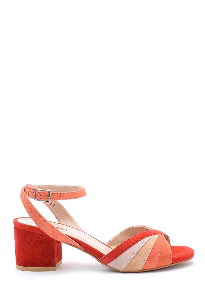 Kırmızı Kadın Kalın Topuklu Ayakkabı 5638162445
