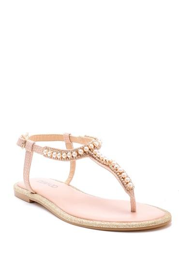 Pembe Kadın İnci Detaylı Sandalet 5638125491