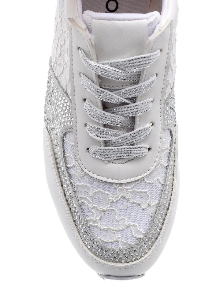 5638121077 Kadın Dantel Detaylı Sneaker