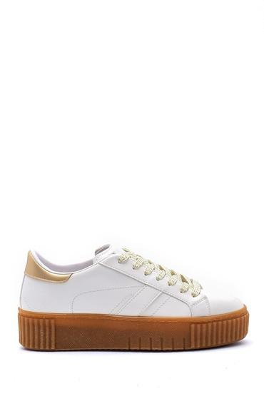 Beyaz Kadın Yüksek Tabanlı Sneaker 5638121198