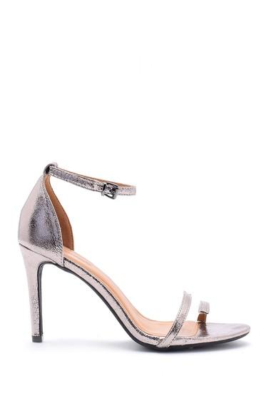 Gri Kadın Metalik Topuklu Ayakkabı 5638125185