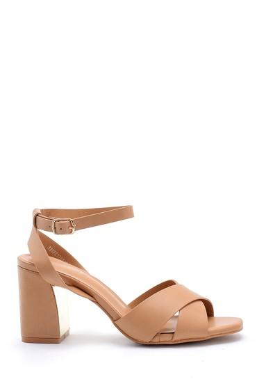 Kahverengi Kadın Kalın Topuklu Ayakkabı 5638126388