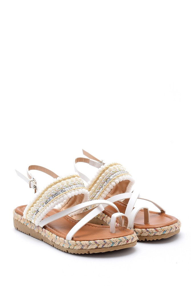 5638131675 Kadın İşlemeli Sandalet