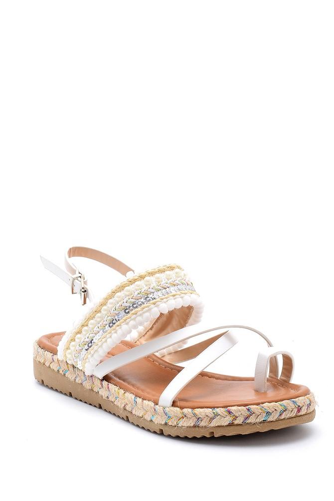 5638131673 Kadın İşlemeli Sandalet