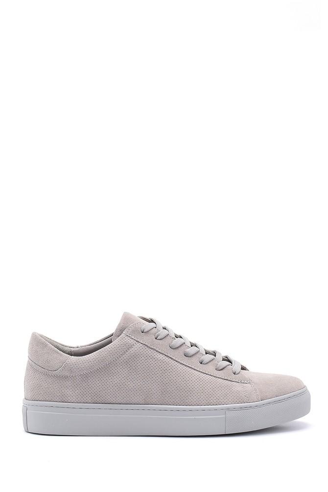 Gri Erkek Süet Deri Sneaker 5638124935
