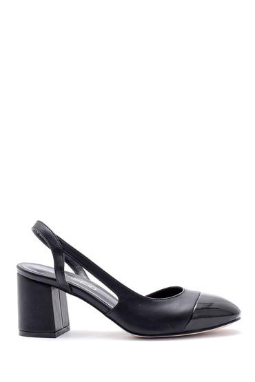 Siyah Kadın Kalın Topuklu Ayakkabı 5638155046