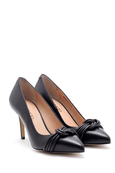 Siyah Kadın Deri Stiletto 5638161409