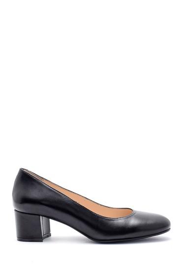 5638163178 Kadın Deri Kalın Topuklu Ayakkabı