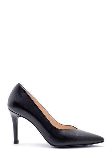 Siyah Kadın Deri Stiletto 5638163412
