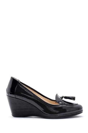 Siyah Kadın Rugan Dolgu Topuklu Ayakkabı 5638121719