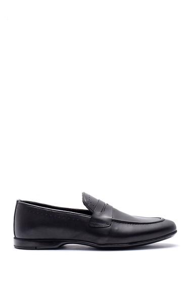 Siyah Erkek Deri Klasik Loafer 5638134603