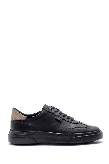 Siyah Erkek Deri Sneaker 5638135406