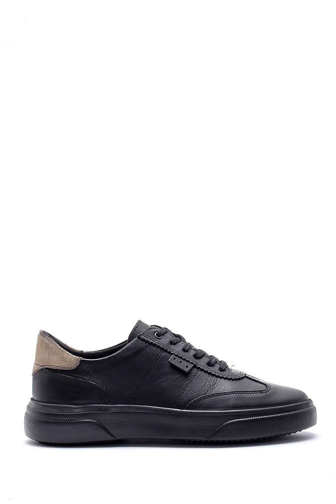 Siyah Erkek Deri Sneaker 5638135410
