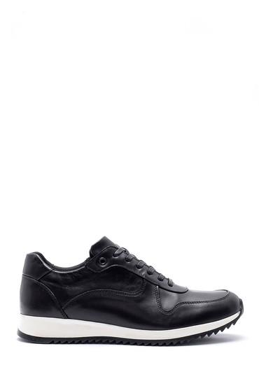 Siyah Erkek Deri Sneaker 5638143879