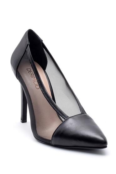 Siyah Kadın Deri Stiletto 5638163328