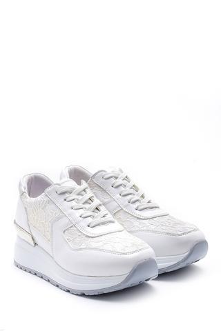 Kadın İşleme Detaylı Sneaker