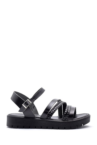 5638161824 Kadın Deri Sandalet