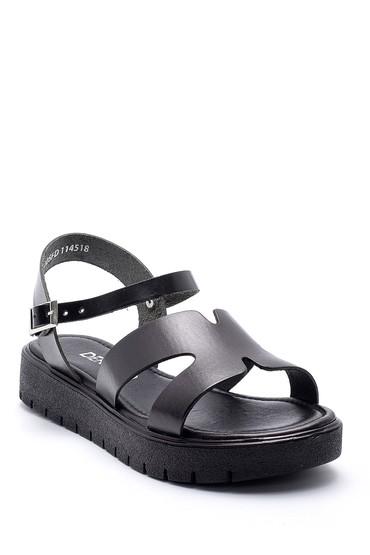 Siyah Kadın Deri Sandalet 5638161843