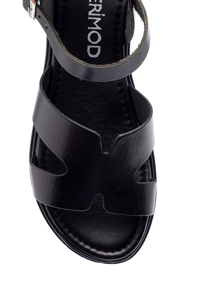 5638161855 Kadın Deri Sandalet
