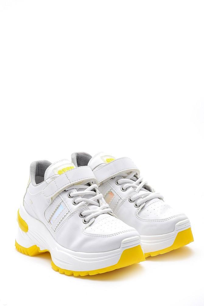 5638175112 Kadın Yüksek Tabanlı Deri Sneaker