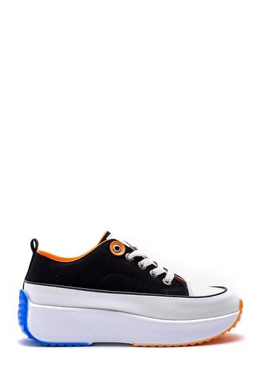 Siyah Kadın Yüksek Tabanlı Sneaker 5638180564