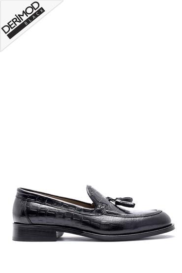 Siyah Erkek Deri Loafer 5638162679